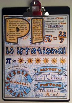 Pi Doodle Notes (for Pi Day or Anytime!) by Math Giraffe Math Teacher, School Classroom, Teaching Math, Maths, Math Fractions, Classroom Design, Future Classroom, Teacher Stuff, Teaching Ideas
