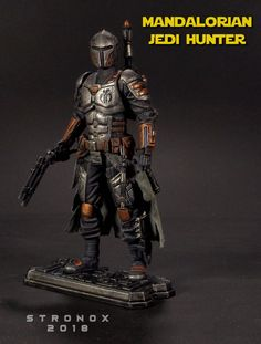 Mandalorian Jedi Hunter custom action figure from the Star Wars series using GI Joe as the base, created by Stronox. Star Wars Games, Star Wars Art, Mandalorian Armor, Star Wars Canon, Custom Action Figures, Clone Wars, Gi Joe, Rogues, Comic Art