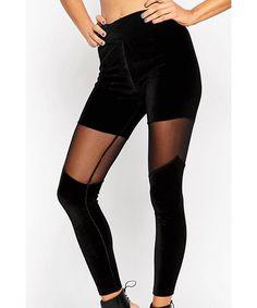 Sexy Black See-Through Leggings For Women