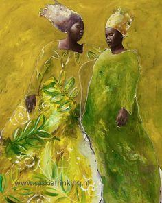 African women Ladies in green