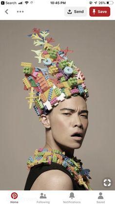Fashion editorial hair crowns Ideas for 2019 Crazy Hat Day, Crazy Hats, Editorial Hair, Editorial Fashion, Caroline Reboux, High Fashion Photography, Portrait Photography, Recycled Fashion, Derby Hats