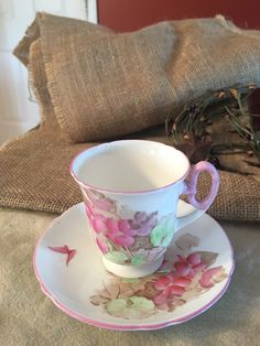 Shelley (England) Miniature Tea Cup and Saucer by VintageFamilyGoods on Etsy https://www.etsy.com/listing/466047183/shelley-england-miniature-tea-cup-and