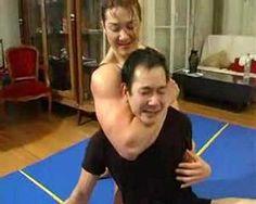 Alina Popa Wrestling Man