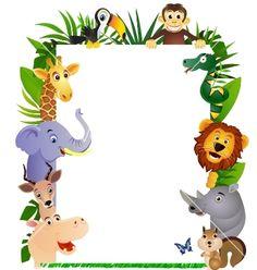 Animal cartoon frame vector on VectorStock®