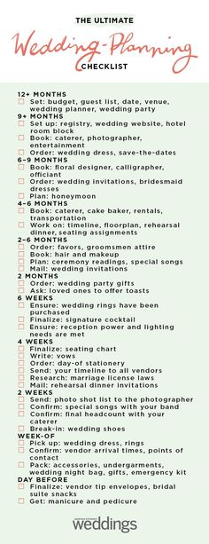 Your Ultimate Wedding-Planning Timeline Ready, set, go! Our no-nonsense guide wi. Your Ultimate Wedding-Planning Timeline Ready, set, go! Our no-nonsense guide will help you learn h Wedding Ceremony Ideas, Budget Wedding, Wedding Tips, Wedding Events, Wedding Favors, Wedding Blog, Destination Wedding, Wedding Week, Cake Wedding
