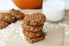 Post image for Pumpkin Oatmeal Raisin Cookies (Gluten-Free + Dairy-Free)
