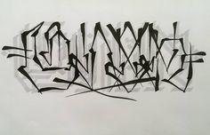 """Gefällt 161 Mal, 4 Kommentare - @enoc801 auf Instagram: """"Calligraphy Shadow 4/4 =ENOK= ✒ Touch - Twin Marker"""""""