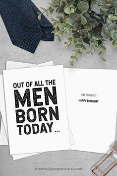 New birthday card printable funny happy Ideas Birthday Cards To Print, Free Printable Birthday Cards, Card Templates Printable, Birthday Card Template, Birthday Cards For Him, Funny Birthday Cards, Birthday Captions, Diy Birthday, Friend Birthday