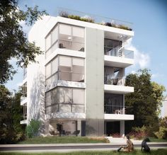 Multi Story Building, Exterior, 3d, Outdoor Rooms