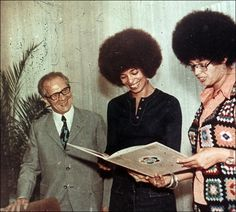 General Secretary of the Socialist Unity Party Erich Honecker meets with American civil rights icon Angela Davis, East Germany (1972)