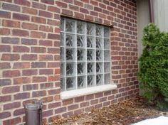 Glass Brick Window From Outside   Replace Leaky Window