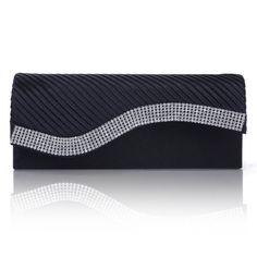 Damara Womens Pleated Satin Flap Crystal Clutch Evening Bag (Navy Blue) Damara http://smile.amazon.com/dp/B00GANPXCG/ref=cm_sw_r_pi_dp_0gmowb0PAPGDN