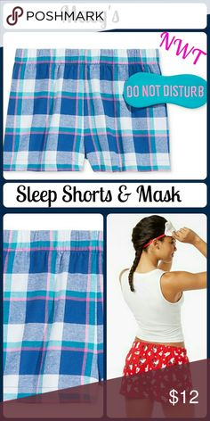 NEW Printed Boxer Pajama Shorts & Eye Mask Set Jenni by Jennifer Moore Printed Boxer Pajama Shorts and Eye Mask Set. In the wink of an eye mask, combined with comfy cotton sleep boxers, Jenni by Jennifer Moore brings some flirty fun to sleep time. -Pull-on styling, elastic waistline -All cotton fabric for soft comfort -Hits at upper thigh -Set includes eye mask-All cotton -Machine washable Macy's Intimates & Sleepwear Pajamas