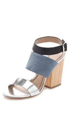 amazing mixed material shoes from elizabeth and james