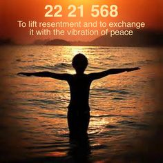 Grabovoi number sequence to lift resentment and to exchange it with the vibration of peace. 22 21 568