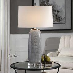 Uttermost Ravi Gray Patterned Lamp