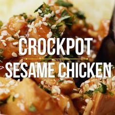 This Crockpot Sesame Chicken is a more flavorful, health-i-fied version of a take-out classic! One of my go-to throw and go, quick and easy recipes! Crock Pot Cooking, Easy Cooking, Cooking Games, Cooking Pork, Cooking Turkey, Cooking Beets, Cooking Salmon, Asian Recipes, Healthy Recipes