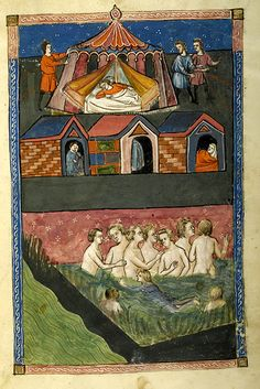 De balneis Puteolanis, MS G.74 fol. 6r - Images from Medieval and Renaissance Manuscripts - The Morgan Library & Museum 1400