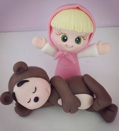 Polymer Clay Disney, Fimo Clay, Masha And The Bear, Pasta Flexible, Sugar Art, Baby Crafts, Gum Paste, Fondant, Cake Toppers