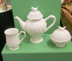 """1 9″ High Porcelain Coffee Pot This beauty will bring Spring straight to your doorstep! As a 9"""" high porcelain coffee pot, you can put it to use on a daily basis. It's not just for an afternoon tea, but you can enjoy a steamy evening pot of coffee while the sun sets. You can …"""