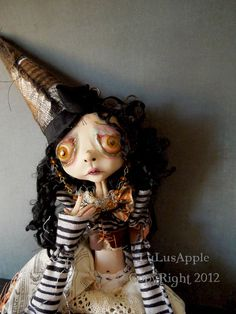 Steampunk Art Doll Halloween Autumn Witch OOAK Neav by LuLusApple, $185.00