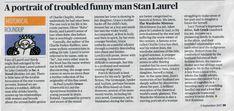 Salt Creek in Stan Laurel, The Sunday Times, Charlie Chaplin, Historical Fiction, Man Humor, Fiction Books, Salt, News