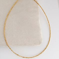 Beautiful new gold dainty beaded necklaces