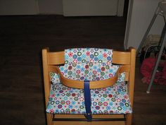 Stokke Tripp Trapp high chair cushions, made by me. Kinderstoel kussens zelfgemaakt.