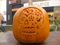 Dia de los muertos carved pumpkin this is halloween pinterest dia de los muertos pumpkin carving designs dia de los muertos pumpkin carving day pronofoot35fo Images