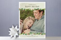 LOVE this Christmas photo card by Alethea and Ruth @minted