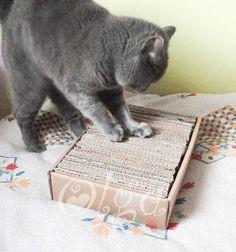 tutorial como hacer un juguete para gatos.rascador-para-gatos