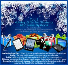 Top 5 Holiday Gifts for Students Who Have Dyslexia