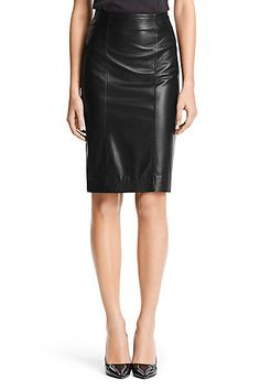 Leather Combo Pencil Skirt| DVF