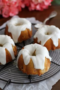 Mini Lemon-Rhubarb Bundt Cakes   Girl Versus Dough