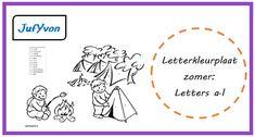 JufYvon: Letterkleurplaten thema zomer