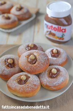 SOFFICI CON NUTELLA The Soffici with Nutella by Benedetta are soft and delicious sweets perfect for adults and children. Trifle Desserts, Cute Desserts, Vegan Desserts, Delicious Desserts, Dessert Recipes, Nutella Fudge, Nutella Recipes, Beignets, Nutella Biscuits