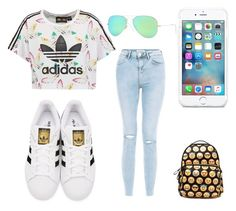 """adidas"" by linavanmourik on Polyvore featuring schoonheid, adidas Originals, New Look en Ray-Ban"