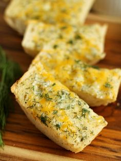 Cheddar Ranch Bread - This tangy, cheesy bread is lighter than traditional garlic bread! wearychef.com
