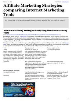Affiliate Marketing Strategies comparing Internet Marketing Tools Marketing Tools, Internet Marketing, Marketing Strategies, Way To Make Money, Make Money Online, Google Ads, Earn Money, Affiliate Marketing, Web Design