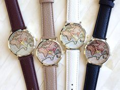 World Map Watch by Hello Miss Apple $28.90 each