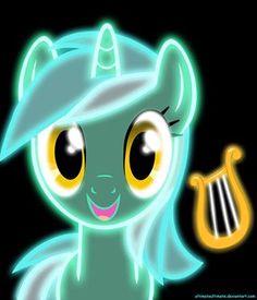 My Little Pony: Friendship is Magic fan art // Neon Lyra by ZantyARZ on deviantART My Little Pony Dolls, Hasbro My Little Pony, Little Pony Party, Mlp My Little Pony, My Little Pony Friendship, Lyra Heartstrings, Princesa Celestia, Vinyl Scratch, Little Poni