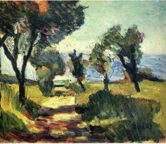'olive bäume', öl auf leinwand von Henri Matisse (1869-1954, France)