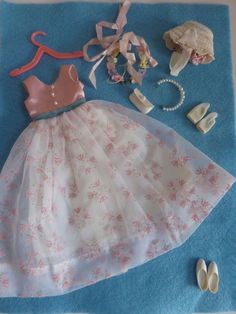 VINTAGE  Ideal Pepper Flower Girl Outfit #9332-8 Tammy s Family