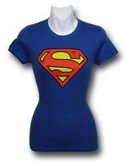 Superman Jr  Womens Symbol T-Shirt