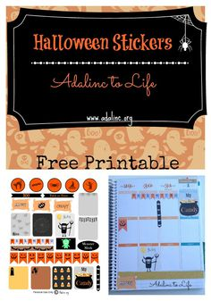 Halloween stickers for your planner free printable