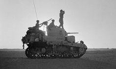 M3 Stuart in the desert.