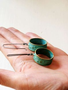 Patinated Hoops S  READY TO SHIP by Meetalls on Etsy
