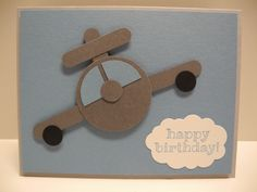 Adorable Airplane birthday card!!   Definite CASE :-) Kathe's Adventures: Star Struck Stampers Sunday stamping adventures