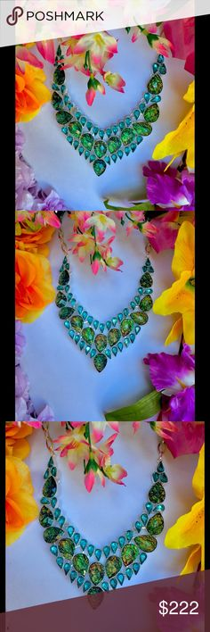 ✨🌈Triplet Opal & Blue Topaz🦄 ✨Stunning faceted Australian Triplet Opal Necklace embellished with London Blue topaz set in 925 Silver 🌈✨Magical color display & light reflects! Handmade Jewelry Necklaces