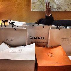 Shopping! #hermes #balmain #chanel DONE! by kanelk_k